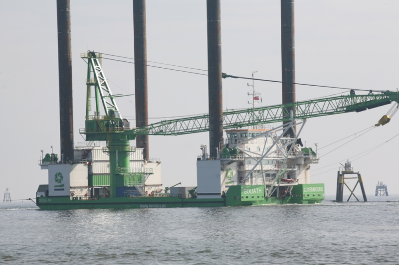 Borkum West offshore wind farm installation, Germany