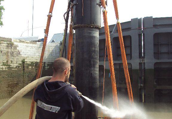 Habitat repairs to Kattendijksluis shiplock, Belgium