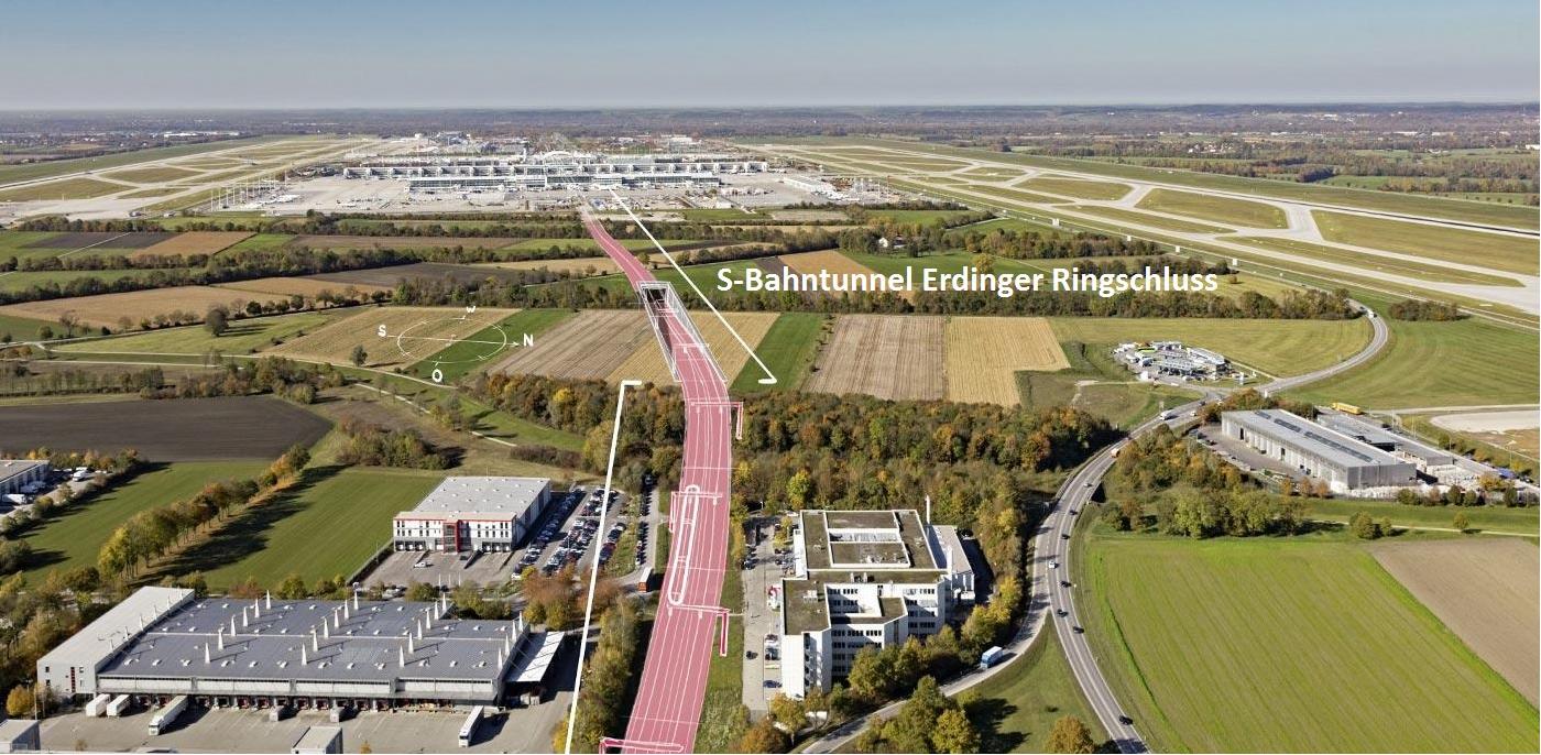 Munich Airport Tunnel Construction